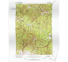 USGS Topo Map Oregon Bates 282240 1951 62500 Poster