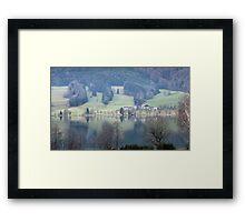 lake in austria Framed Print