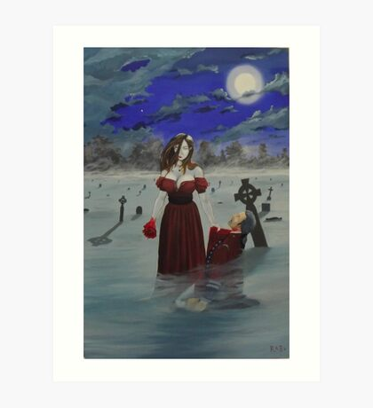 All American Vampire Art Print