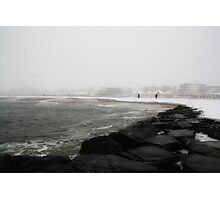 Snowstorm at Cape May Photographic Print