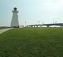 Lighthouse at Confederation Bridge by George Cousins