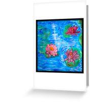 Floating Lotus Flowers Greeting Card