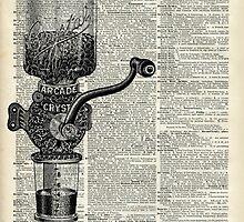 Vintage Coffee Grinder  by DictionaryArt
