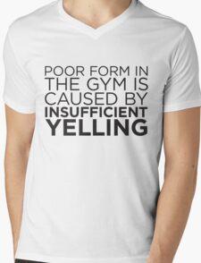 Poor Form Mens V-Neck T-Shirt