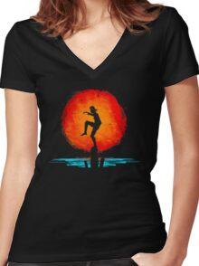 Minimal California Training Women's Fitted V-Neck T-Shirt