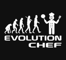 Evolution Of A Chef Cooking Funny Kids Clothes