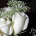 White Roses and Baby's Breath by Laurast