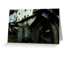Decaying Train Wheels Greeting Card