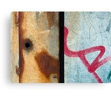 Graffiti and Rust  Canvas Print