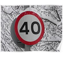 40 sign Poster