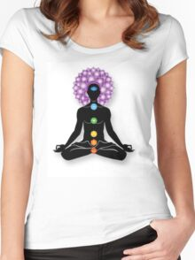 Meditation and Chakras Women's Fitted Scoop T-Shirt