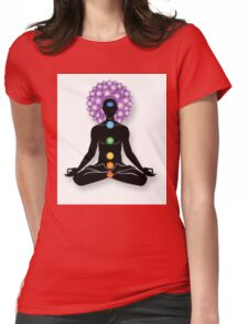 Meditation and Chakras Womens Fitted T-Shirt