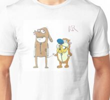 Finn and Jake Ren and Stimpy by WRTSTIK Unisex T-Shirt