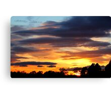 Fabulous colourful rich Sunset , Coniscliffe Grange, 9th May 2011,  Canvas Print