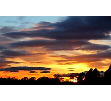 Fabulous colourful rich Sunset , Coniscliffe Grange, 9th May 2011,  Photographic Print