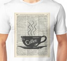 Dictionary Art Hot Coffee Cup Unisex T-Shirt