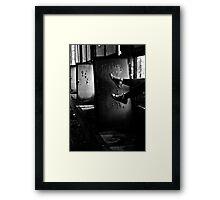 Entering Abandoned Structure Framed Print