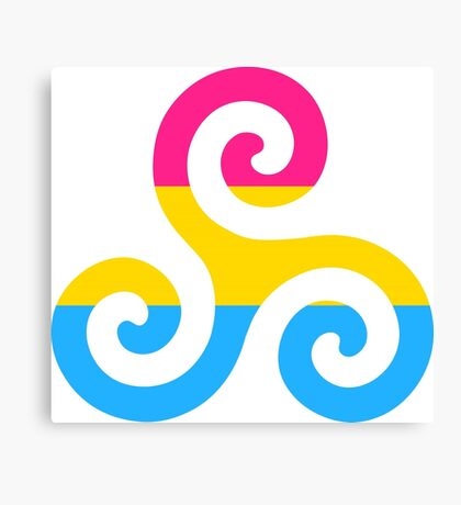 Pansexual Pride Teen Wolf Triskelion Canvas Print