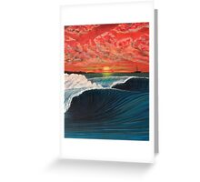 SUNSET SAILING IN INDONESIA Greeting Card