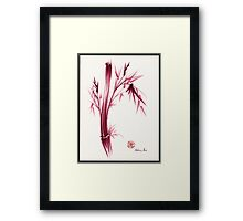 """INSPIRE"" - Original ink brush pen bamboo drawing/painting Framed Print"