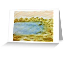 The Cove in Abstract Series #1, watercolor Greeting Card