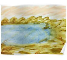 The Cove in Abstract Series #1, watercolor Poster
