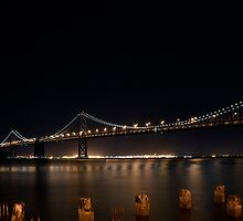 Bay Bridge at Night by Nic Horton