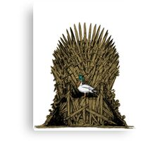 A Game On Throne Canvas Print