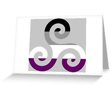 Asexual Pride Teen Wolf Triskelion Greeting Card