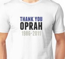 Thank You Oprah Shirt Last Episode 1986-2011 Unisex T-Shirt