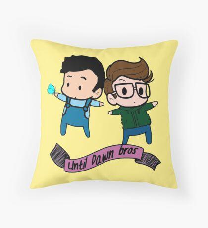 until dawn - bros Throw Pillow