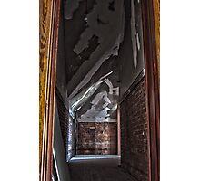 HDR of decrepit Hallway Photographic Print