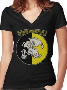 Militaires Sans Frontières Women's Fitted V-Neck T-Shirt