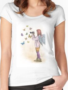Photog Angel Women's Fitted Scoop T-Shirt