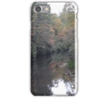 Smudge of fall with a settling creek iPhone Case/Skin