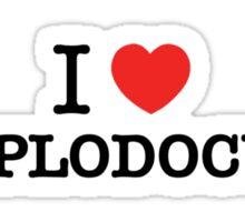 I Love DIPLODOCUS Sticker