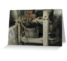 Antique Winemaking Press Hermann, MO Greeting Card