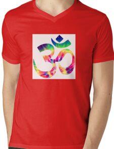 Tie Dye Om Mens V-Neck T-Shirt