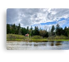 Beaver Dam by Old Shack Canvas Print