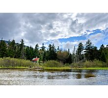 Beaver Dam by Old Shack Photographic Print