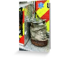 Bucket on Fire Truck Greeting Card