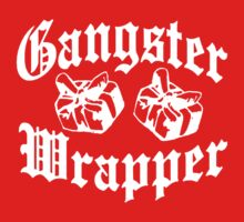 Gangster Wrapper Funny Christmas  Kids Tee