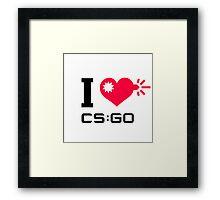 I <3 CSGO Framed Print