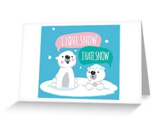 Polar Opposites Greeting Card