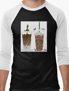 Starbucks Kittens! Men's Baseball ¾ T-Shirt