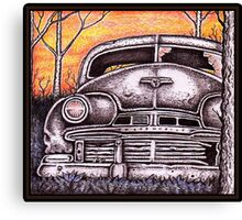 '42 Oldsmobile at Sunset Canvas Print