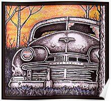'42 Oldsmobile at Sunset Poster
