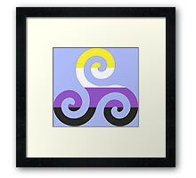 Nonbinary Pride Teen Wolf Triskelion Framed Print