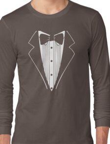 Hot Funny TUXEDO Wedding Groom Prom Bow Long Sleeve T-Shirt
