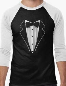 Hot Funny TUXEDO Wedding Groom Prom Bow Men's Baseball ¾ T-Shirt